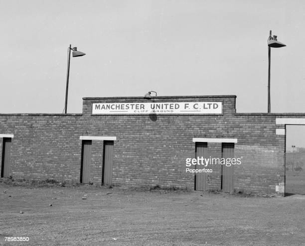 Football Manchester England Circa 1960's The Manchester United training ground at The Cliff