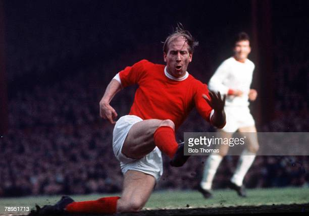 Football Manchester United's Bobby Charlton in action