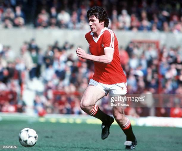 Football Manchester United's Frank Stapleton on the ball