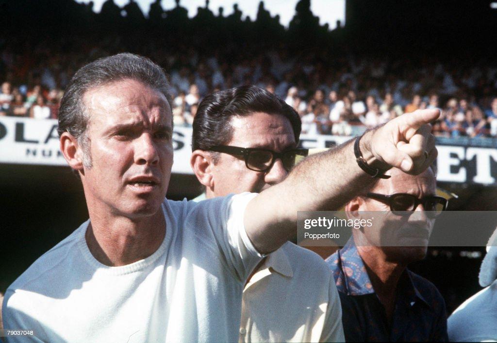 Football. Mario Zagalo, coach of the victorious Brazilian 1970 World Cup team in Mexico. : News Photo