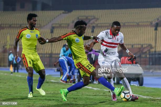 Football match between Zamalek SC vs Wolaita Dicha during African Confederation Cup 2018 in Cairo on March 18 2018