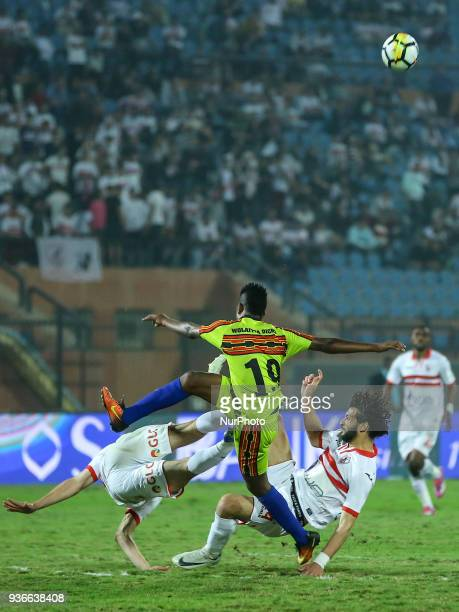 Football match between Zamalek SC vs Wolaita Dicha during African Confederation Cup 2018 in Cairo on March 18 2018 The Ethiopian debutants Wolaitta...