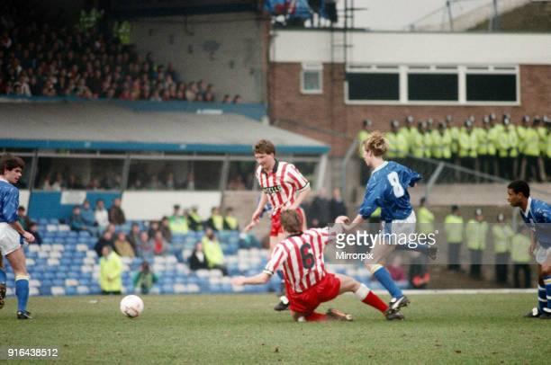 Football match, Birmingham City v Stoke City, final score 1-1, League Division Three. St Andrews Stadium, Birmingham, 29th February 1992.