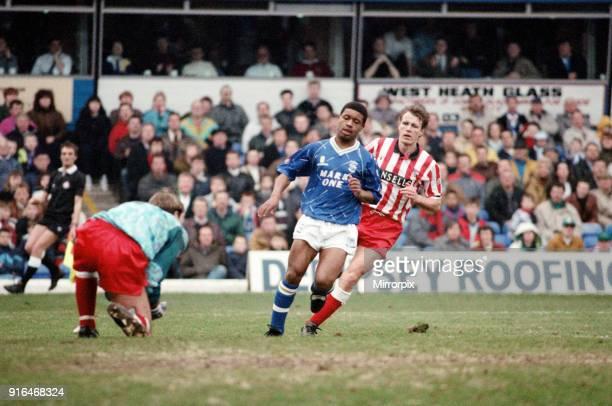 Football match Birmingham City v Stoke City final score 11 League Division Three St Andrews Stadium Birmingham 29th February 1992