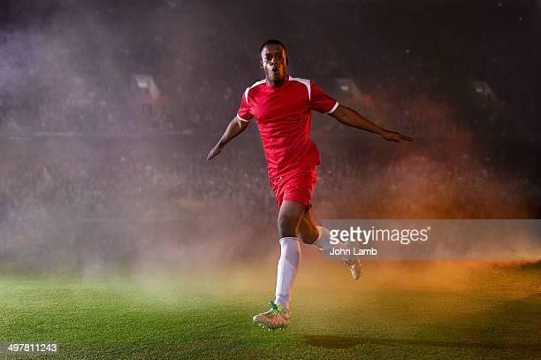 football match celebration - football player stock pictures, royalty-free photos & images