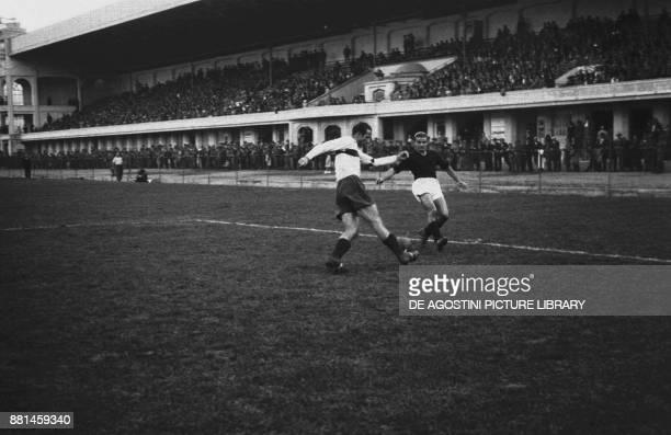 Football match SampdoriaTurin October 10 Genoa Italy 20th century