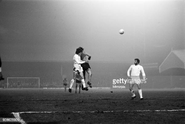 Football match Wolves v Spurs Division 1 Wolves 0 1 Tottenham played at Molineux Ground Waterloo Road Wolverhampton 16th March 1976