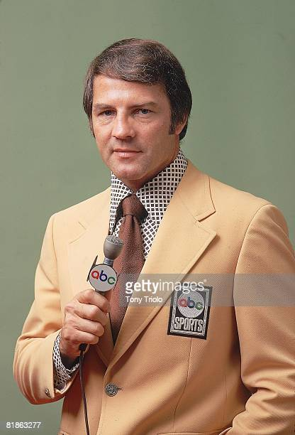 Football Media Closeup portrait of Monday Night Football announcer Frank Gifford Cleveland OH 10/6/1971