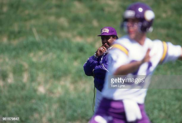Minnesota Vikings coach Dennis Green during training camp at Minnesota State University Minneapolis MN CREDIT Tom Lynn