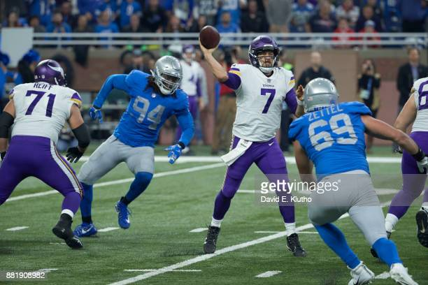 Minnesota Vikings QB Case Keenum in action passing vs Detroit Lions at Ford Field Detroit MI CREDIT David E Klutho