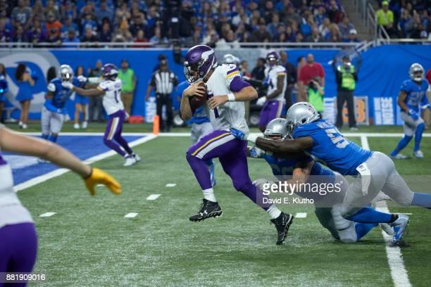 Minnesota Vikings QB Case Keenum in action vs Detroit Lions at Ford Field Detroit MI CREDIT David E Klutho