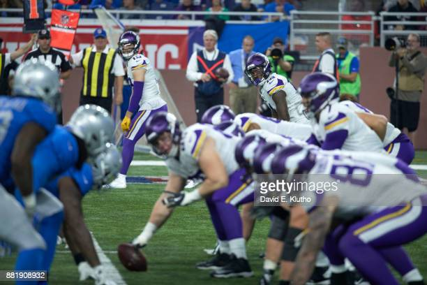 Minnesota Vikings Stefon Diggs at line of scrimmage during game vs Detroit Lions at Ford Field Detroit MI CREDIT David E Klutho