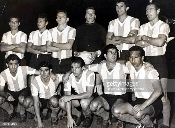 Football Montevideo Uruguay South America Friendly International Uruguay 1 v Argentina 1 The Argentinian national football team pose for a group...