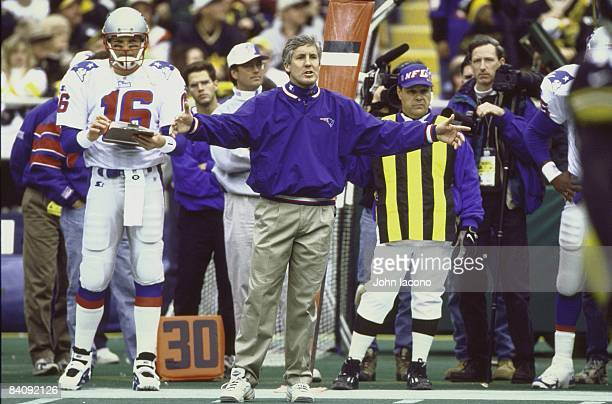 New England Patriots coach Pete Carroll on sidelines during game vs Pittsburgh Steelers Pittsburgh PA 1/3/1998 CREDIT John Iacono