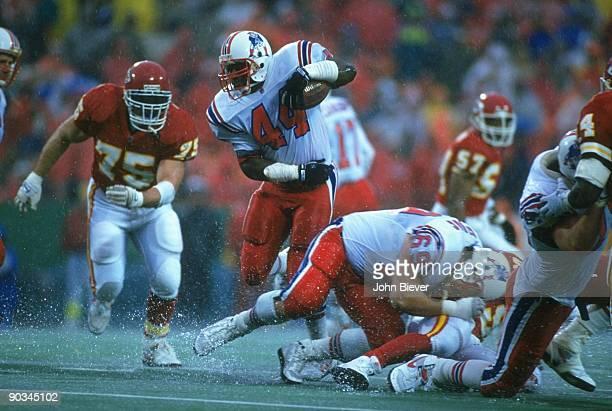 New England Patriots John Stephens in action vs Kansas City Chiefs Rain weather Kansas City MO CREDIT John Biever