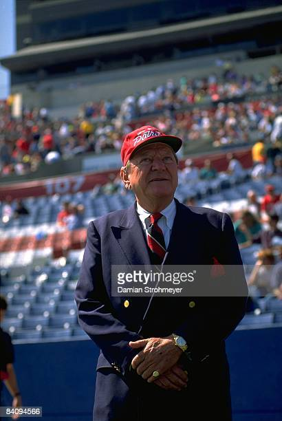 New England Patriots owner James Orthwein before game vs Seattle Seahawks Foxboro MA 9/20/1993 CREDIT Damian Strohmeyer