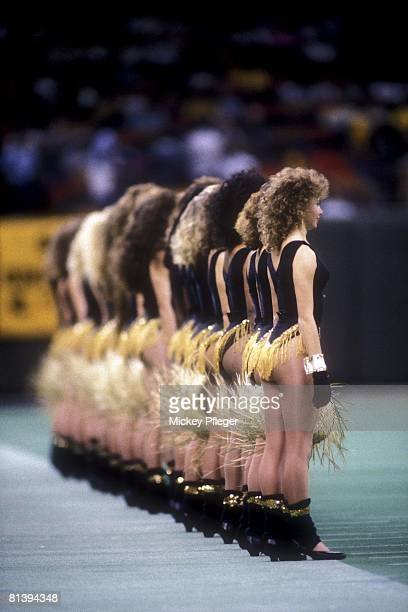 Football New Orleans Saints cheerleaders on sidelines during game vs San Francisco 49ers New Orleans LA