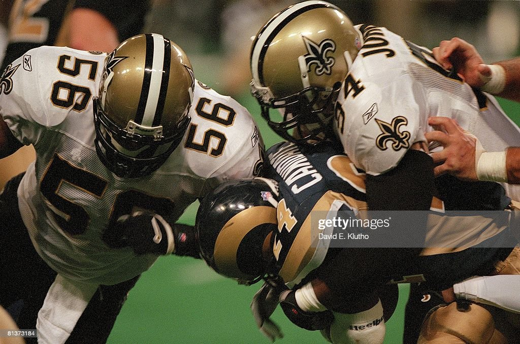 New Orleans Saints Joe Johnson and Charlie Clemons : News Photo
