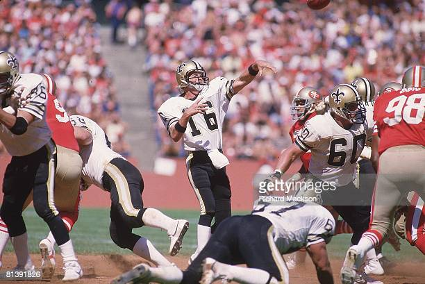 Football New Orleans Saints QB Kenny Stabler in action making pass vs San Francisco 49ers San Francisco CA 9/16/1984
