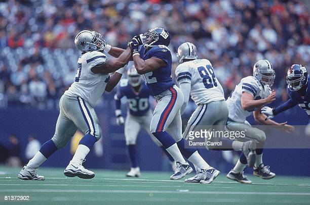 Football: New York Giants Michael Strahan in action vs Dallas Cowboys, Irving, TX 12/9/2001