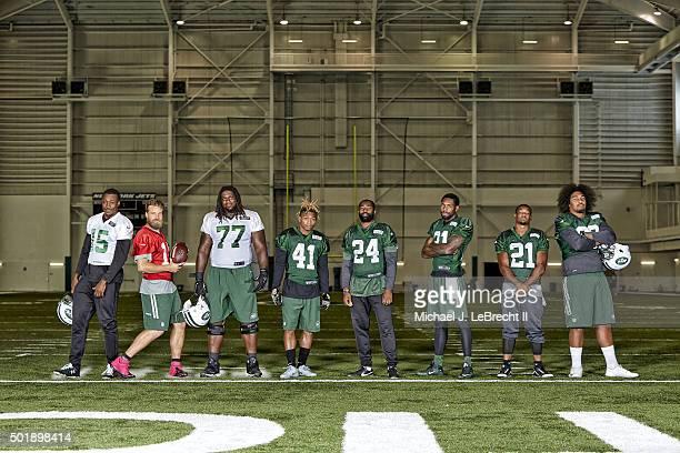 New York Jets new acquisitions wide receiver Brandon Marshall QB Ryan Fitzpatrick offensive guard James Carpenter cornerback Buster Skrine cornerback...
