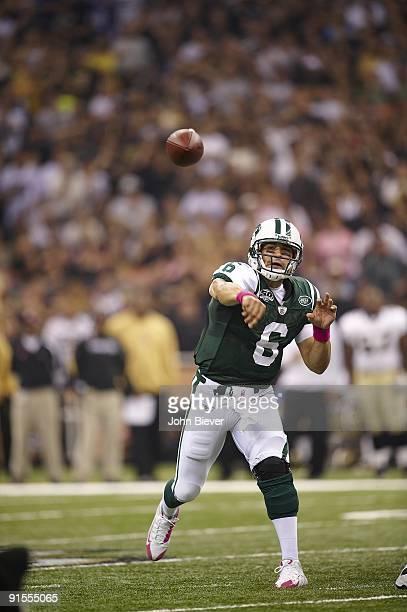 New York Jets QB Mark Sanchez in action, pass vs New Orleans Saints. New Orleans, LA 10/4/2009 CREDIT: John Biever