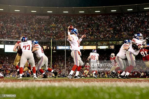NFC Championship New York Giants QB Eli Manning in action vs San Francisco 49ers at Candlestick Park San Francisco CA CREDIT Peter Read Miller