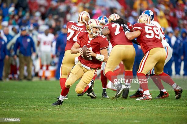 NFC Championship San Francisco 49ers QB Alex Smith in action vs New York Giants at Candlestick Park San Francisco CA CREDIT John Biever