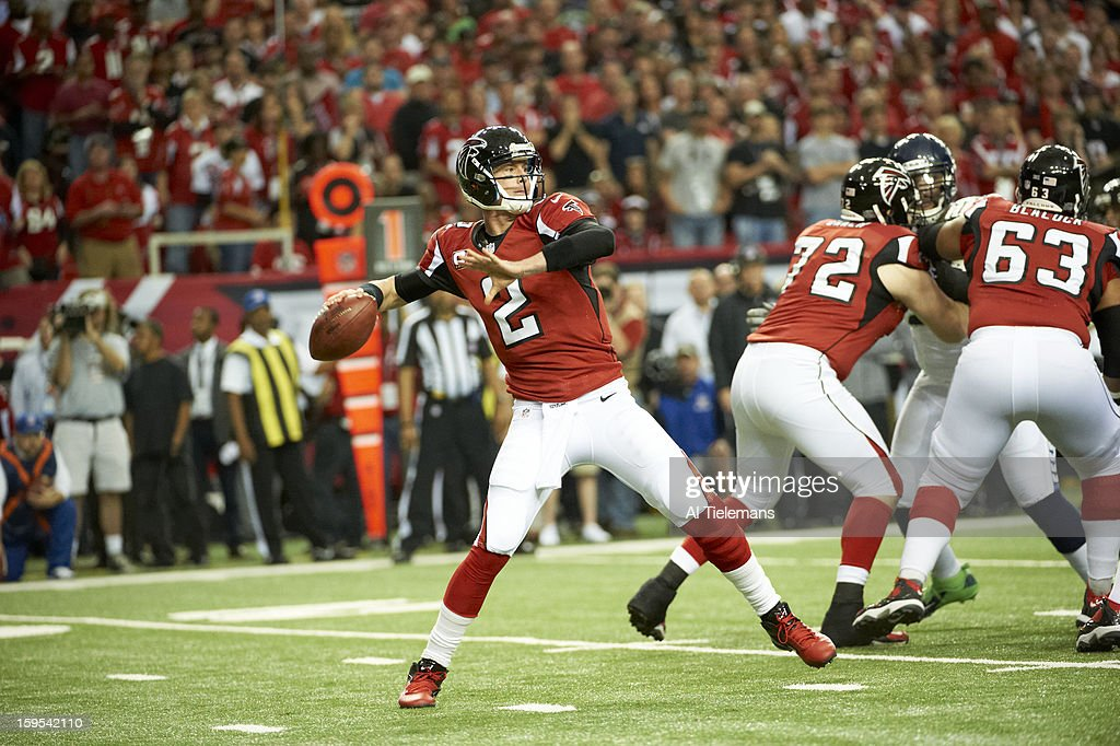 Atlanta Falcons QB Matt Ryan (2) in action vs Seattle Seahawks at Georgia Dome. Al Tielemans F21 )