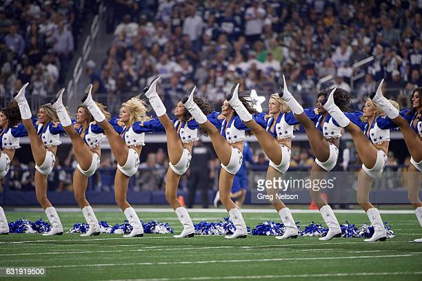NFC Playoffs Dallas Cowboys cheerleaders on field during game vs Green Bay Packers at ATT Stadium Arlington TX CREDIT Greg Nelson