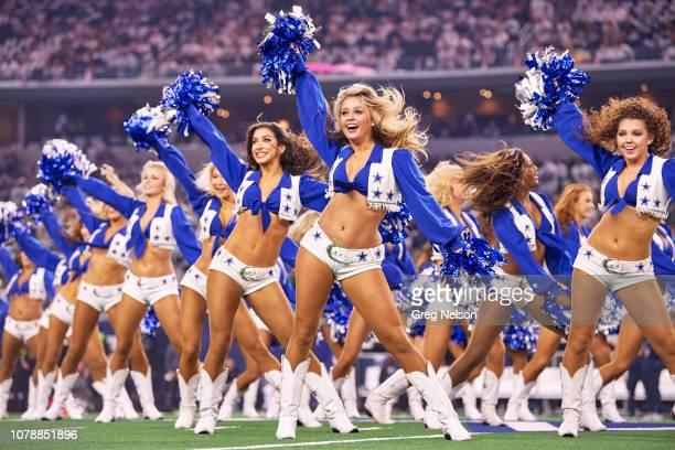 NFC Playoffs Dallas Cowboys cheerleaders performing on field before game vs Seattle Seahawks at ATT Stadium Arlington TX CREDIT Greg Nelson