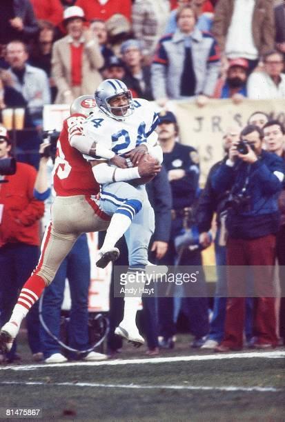 Football NFC Playoffs Dallas Cowboys Everson Walls in action making catch vs San Francisco 49ers San Francisco CA 1/10/1982