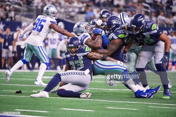 NFC Playoffs Dallas Cowboys Ezekiel Elliott in action rushing vs Seattle Seahawks at ATT Stadium Arlington TX CREDIT Greg Nelson