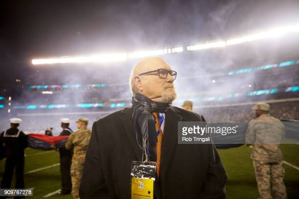 NFC Playoffs Fox Sports analyst Terry Bradshaw after Philadelphia Eagles vs Minnesota Vikings game at Lincoln Financial Field Media Philadelphia PA...