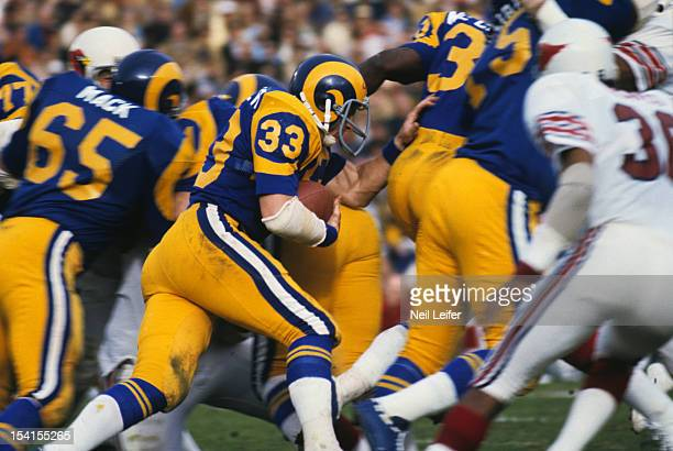 NFC Playoffs Los Angeles Rams Rob Scribner in action vs St Louis Cardinals at Los Angeles Memorial Coliseum Los Angeles CA CREDIT Neil Leifer