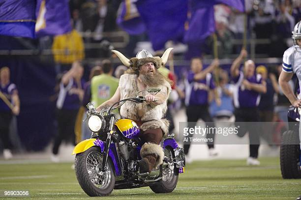 NFC Playoffs Minnesota Vikings mascot Ragnar the Viking Joseph Juranitch before game vs Dallas Cowboys Minneapolis MN 1/17/2010 CREDIT Al Tielemans
