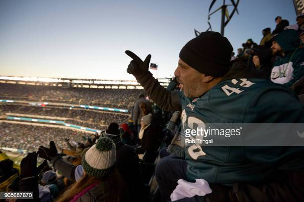 NFC Playoffs Philadelphia Eagles fans in stands during game vs Atlanta Falcons at Lincoln Financial Field Philadelphia PA CREDIT Rob Tringali