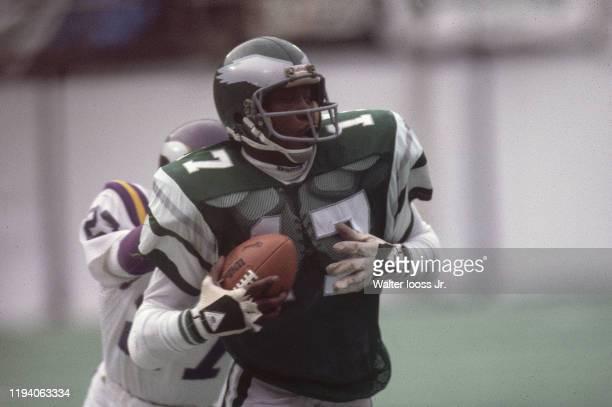 Philadelphia Eagles Harold Carmichael in action vs Minnesota Vikings at Veterans Stadium Philadelphia PA CREDIT Walter Iooss Jr