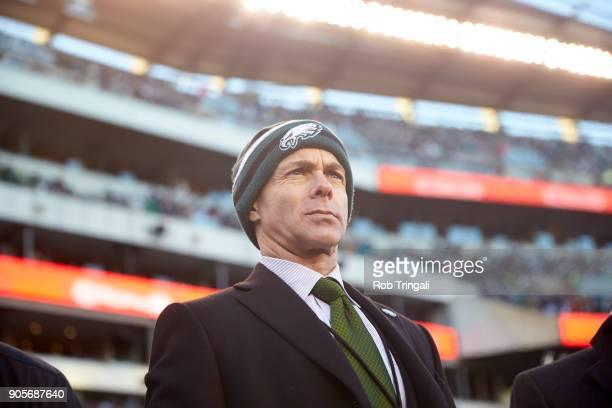 NFC Playoffs Philadelphia Eagles president Don Smolenski on field before game vs Atlanta Falcons at Lincoln Financial Field Philadelphia PA CREDIT...
