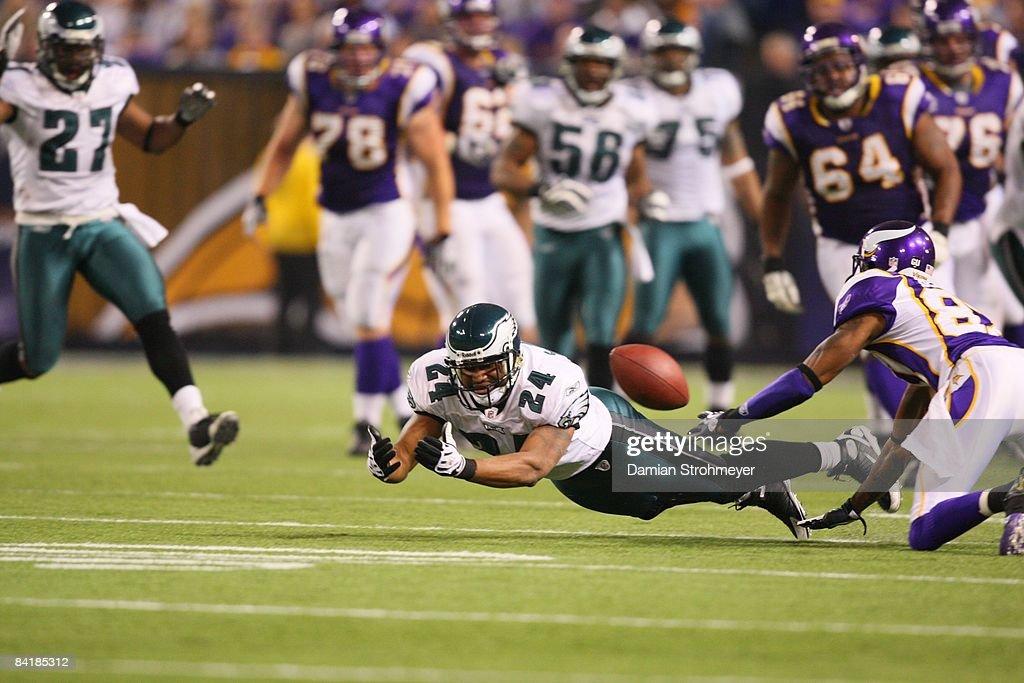Minnesota Vikings vs Philadelphia Eagles, 2009 NFC Wild Card Playoffs : News Photo