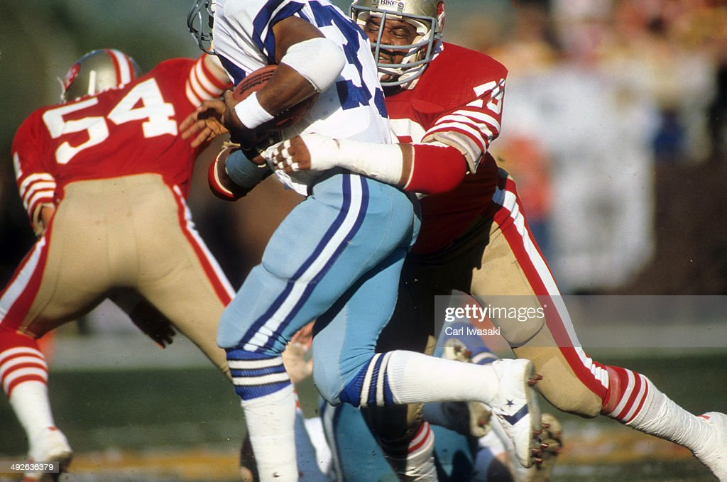 NFC Playoffs San Francisco 49ers Archie Reese in action defense vs Dallas Cowboys at Candlestick Park San Francisco CA CREDIT Carl Iwasaki