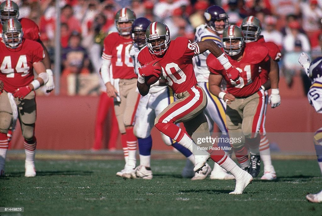 Nfc Playoffs San Francisco 49ers Jerry Rice In Action Rushing Vs News Photo Getty Images