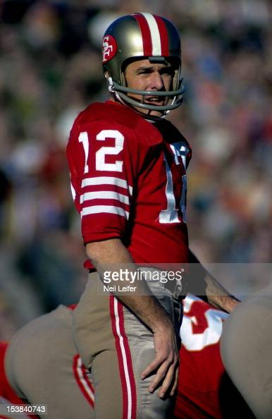 San Francisco 49ers QB John Brodie on field during game vs ...