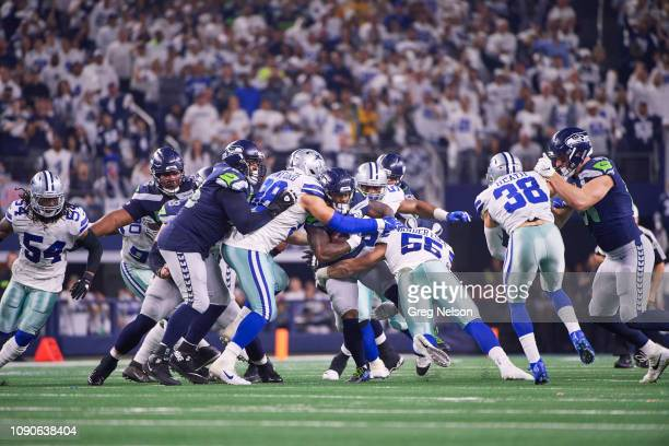 NFC Playoffs Seattle Seahawks in Chris Carson action rushing vs Dallas Cowboys at ATT Stadium Arlington TX CREDIT Greg Nelson