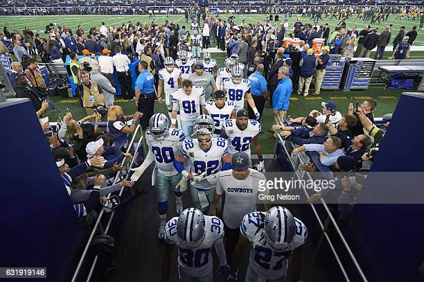 NFC Playoffs View of Dallas Cowboys players walking off field after game vs Green Bay Packers at ATT Stadium Arlington TX CREDIT Greg Nelson