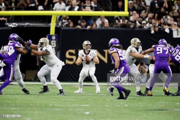 NFC Wild Card Playoffs New Orleans Saints QB Drew Brees in action vs Minnesota Vikings at MercedesBenz Superdome New Orleans LA CREDIT David E Klutho