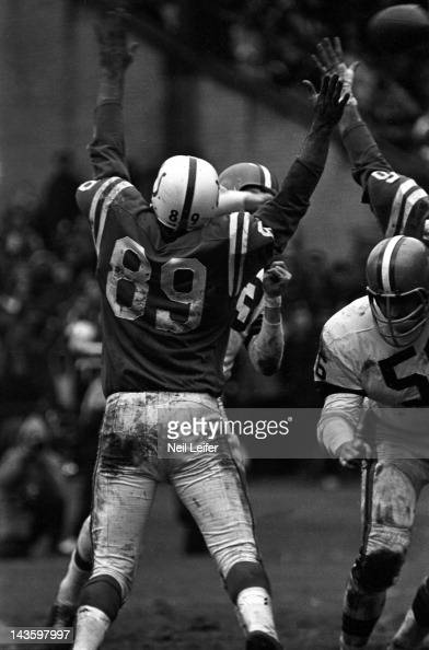 Baltimore Colts Gino Marchetti in action vs Cleveland Browns QB Frank... News Photo - Getty Images