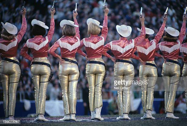 NFL Championship Dallas Cowboys cheerleaders on field during game vs Green Bay Packers at Cotton Bowl Stadium Dallas TX 1/1/1967CREDIT Neil Leifer