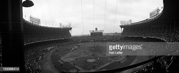NFL Championship Overall view of field and stadium during Cleveland Browns vs Baltimore Colts game at Municipal Stadium Cleveland OH CREDIT Neil...