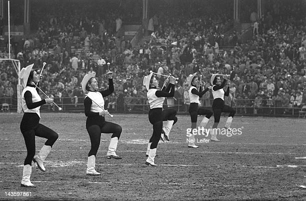 NFL Championship View of cheerleaders in action during Baltimore Colts vs New York Giants game at Memorial Stadium Baltimore MD CREDIT Neil Leifer